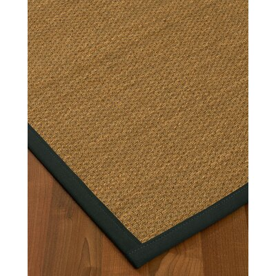 Chavis Border Hand-Woven Beige/Onyx Area Rug Rug Size: Rectangle 6 x 9, Rug Pad Included: Yes