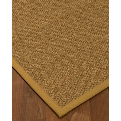 Chavis Border Hand-Woven Beige/Sage Area Rug Rug Size: Rectangle 5 x 8, Rug Pad Included: Yes