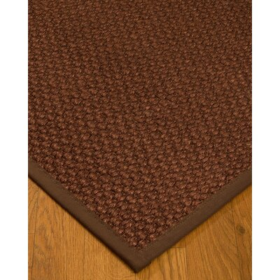 Kerrick Border Hand-Woven Brown Area Rug Rug Size: Rectangle 9 x 12, Rug Pad Included: Yes