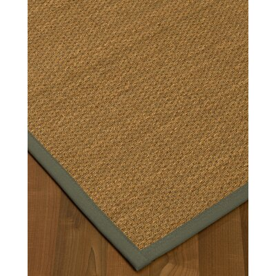 Chavis Border Hand-Woven Beige/Stone Area Rug Rug Size: Rectangle 4 x 6, Rug Pad Included: Yes