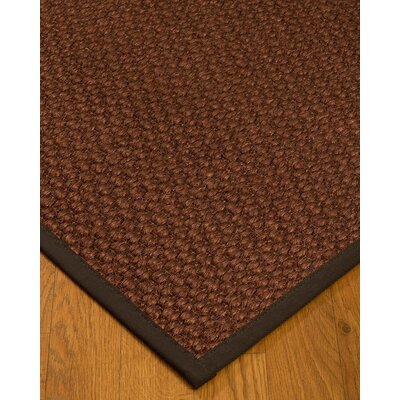 Kerrick Border Hand-Woven Brown/Fudge Area Rug Rug Size: Rectangle 4 x 6, Rug Pad Included: Yes
