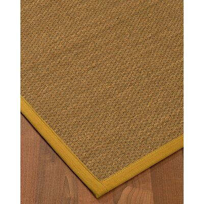 Chavis Border Hand-Woven Beige/Tan Area Rug Rug Size: Rectangle 4 x 6, Rug Pad Included: Yes