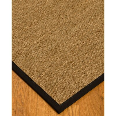 Anya Border Hand-Woven Beige/Black Area Rug Rug Size: Runner 26 x 8, Rug Pad Included: No