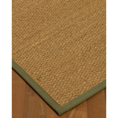 Anya Border Hand-Woven Beige/Fossil Area Rug Rug Size: Rectangle 6 x 9, Rug Pad Included: Yes