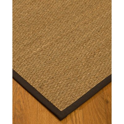 Anya Border Hand-Woven Beige/Fudge Area Rug Rug Size: Rectangle 8 x 10, Rug Pad Included: Yes
