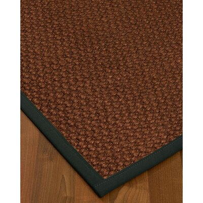 Kerrick Border Hand-Woven Brown/Onyx Area Rug Rug Size: Rectangle 8 x 10, Rug Pad Included: Yes