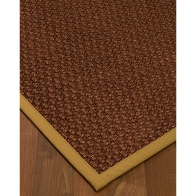 Kerrick Border Hand-Woven Brown/Sage Area Rug Rug Size: Rectangle 8 x 10, Rug Pad Included: Yes