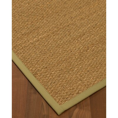 Anya Border Hand-Woven Beige/Natural Area Rug Rug Size: Rectangle 5 x 8, Rug Pad Included: Yes