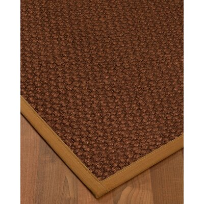 Kerrick Border Hand-Woven Brown/Sienna Area Rug Rug Size: Rectangle 4 x 6, Rug Pad Included: Yes