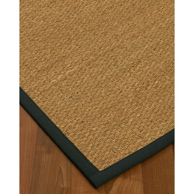 Anya Border Hand-Woven Beige/Onyx Area Rug Rug Size: Rectangle 8 x 10, Rug Pad Included: Yes