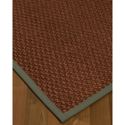 Kerrick Border Hand-Woven Brown/Stone Area Rug Rug Size: Rectangle 3 x 5, Rug Pad Included: No