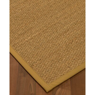 Anya Border Hand-Woven Beige/Sage Area Rug Rug Size: Rectangle 6 x 9, Rug Pad Included: Yes