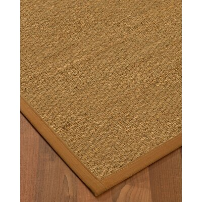 Anya Border Hand-Woven Beige/Sienna Area Rug Rug Size: Rectangle 6 x 9, Rug Pad Included: Yes