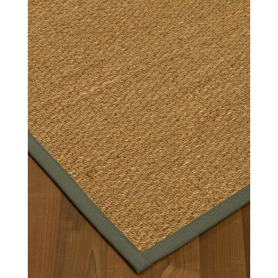 Anya Border Hand-Woven Beige/Stone Area Rug Rug Size: Rectangle 4 x 6, Rug Pad Included: Yes