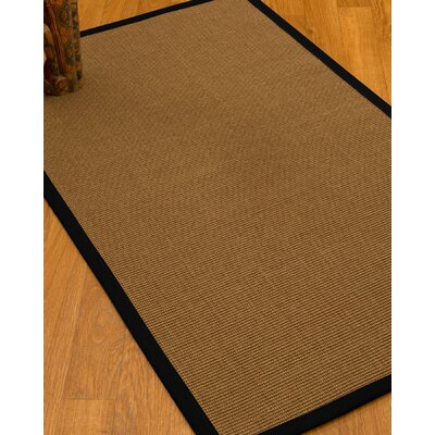 Huntwood Border Hand-Woven Brown/Black Area Rug Rug Size: Rectangle 4 x 6, Rug Pad Included: Yes