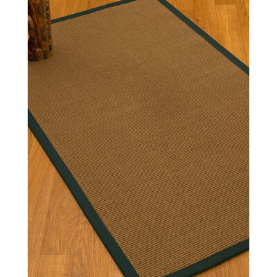 Huntwood Border Hand-Woven Brown/Metal Area Rug Rug Size: Rectangle 4 x 6, Rug Pad Included: Yes