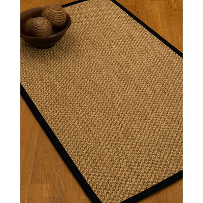 Heier Border Hand-Woven Brown/Black Area Rug Rug Size: Rectangle 5 x 8, Rug Pad Included: Yes