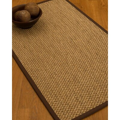 Heier Border Hand-Woven Brown/Beige Area Rug Rug Size: Rectangle 8 x 10, Rug Pad Included: Yes