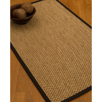 Heier Border Hand-Woven Brown/Fudge Area Rug Rug Size: Rectangle 9 x 12, Rug Pad Included: Yes