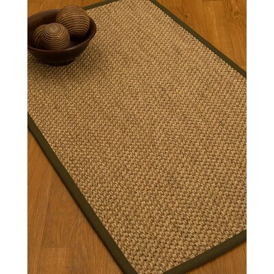 Heier Border Hand-Woven Brown/Malt Area Rug Rug Size: Rectangle 6 x 9, Rug Pad Included: Yes