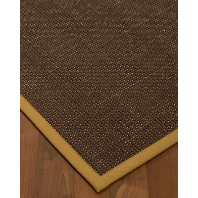 Kersh Border Hand-Woven Brown/Sage Area Rug Rug Size: Rectangle 4 x 6, Rug Pad Included: Yes