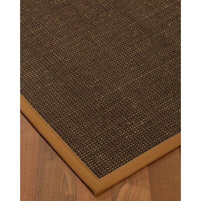 Kersh Border Hand-Woven Brown/Sienna Area Rug Rug Size: Rectangle 8 x 10, Rug Pad Included: Yes