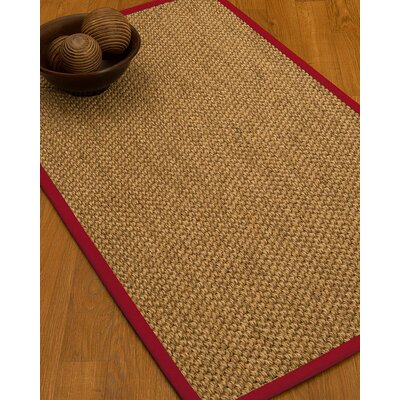 Heier Border Hand-Woven Brown/Red Area Rug Rug Size: Rectangle 6 x 9, Rug Pad Included: Yes