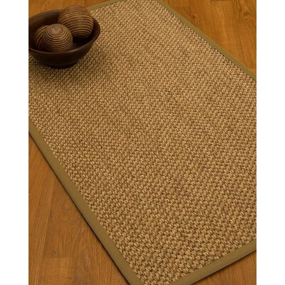 Heier Border Hand-Woven Brown/Beige Area Rug Rug Size: Rectangle 9 x 12, Rug Pad Included: Yes