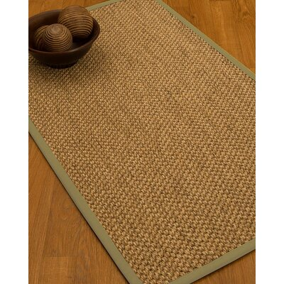 Heier Border Hand-Woven Brown/Sand Area Rug Rug Size: Rectangle 5' x 8', Rug Pad Included: Yes