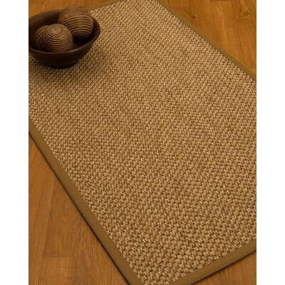 Heier Border Hand-Woven Brown Area Rug Rug Size: Rectangle 6' x 9', Rug Pad Included: Yes