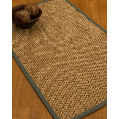 Heier Border Hand-Woven Brown/Stone Area Rug Rug Size: Rectangle 6 x 9, Rug Pad Included: Yes