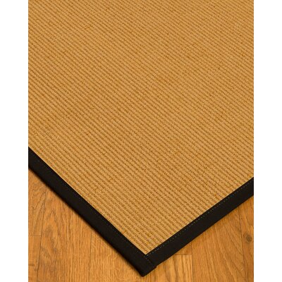 Vannatter Border Hand-Woven Beige/Black Area Rug Rug Size: Rectangle 9 x 12, Rug Pad Included: Yes