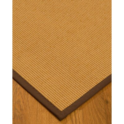 Vannatter Border Hand-Woven Beige/Brown Area Rug Rug Size: Rectangle 9 x 12, Rug Pad Included: Yes