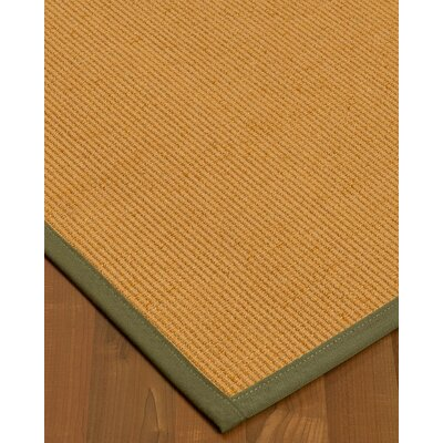 Vannatter Border Hand-Woven Beige/Green Area Rug Rug Size: Rectangle 8 x 10, Rug Pad Included: Yes, 0: 0