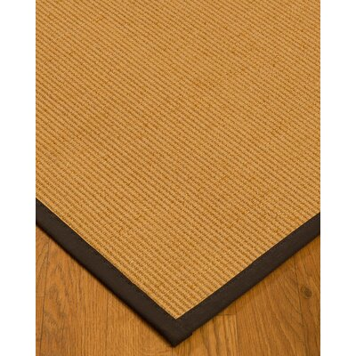 Vannatter Border Hand-Woven Beige/Brown Area Rug Rug Size: Rectangle 4 x 6, Rug Pad Included: Yes