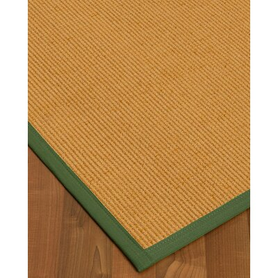 Vannatter Border Hand-Woven Beige/Green Area Rug Rug Size: Rectangle 5 x 8, Rug Pad Included: Yes