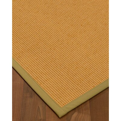 Vannatter Border Hand-Woven Beige Area Rug Rug Size: Rectangle 9 x 12, Rug Pad Included: Yes