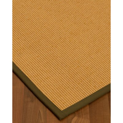 Vannatter Border Hand-Woven Beige/Malt Area Rug Rug Size: Rectangle 5 x 8, Rug Pad Included: Yes