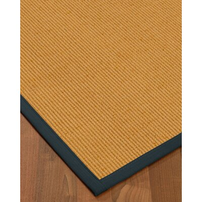 Vannatter Border Hand-Woven Beige/Marine Area Rug Rug Size: Rectangle 5 x 8, Rug Pad Included: Yes