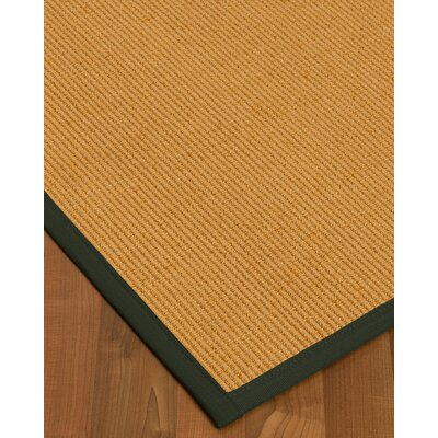 Vannatter Border Hand-Woven Beige/Black Area Rug Rug Size: Rectangle 5 x 8, Rug Pad Included: Yes