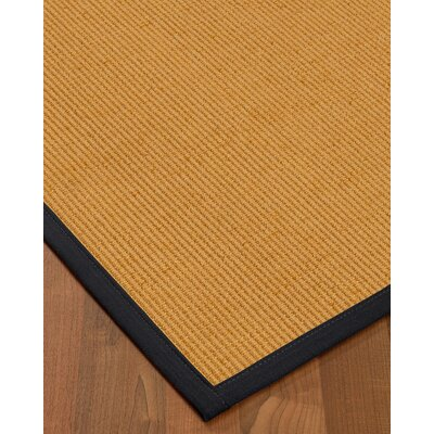 Vannatter Border Hand-Woven Beige/Midnight Blue Area Rug Rug Size: Rectangle 6 x 9, Rug Pad Included: Yes