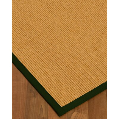Vannatter Border Hand-Woven Beige/Green Area Rug Rug Size: Rectangle 8 x 10, Rug Pad Included: Yes