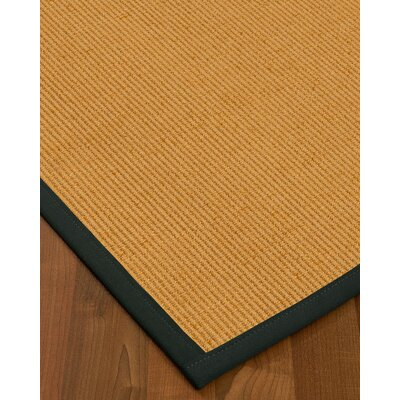 Vannatter Border Hand-Woven Beige/Black Area Rug Rug Size: Rectangle 12 x 15, Rug Pad Included: Yes