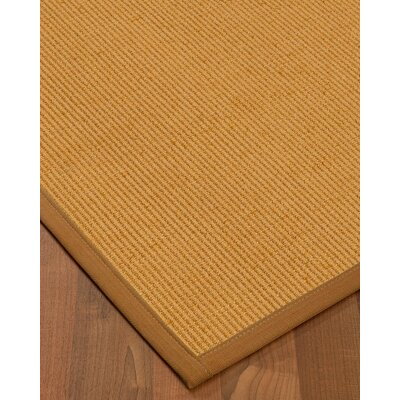 Vannatter Border Hand-Woven Beige/Ivory Area Rug Rug Size: Rectangle 4 x 6, Rug Pad Included: Yes