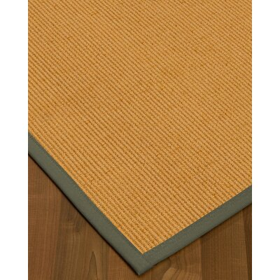 Vannatter Border Hand-Woven Beige/Green Area Rug Rug Size: Rectangle 9 x 12, Rug Pad Included: Yes