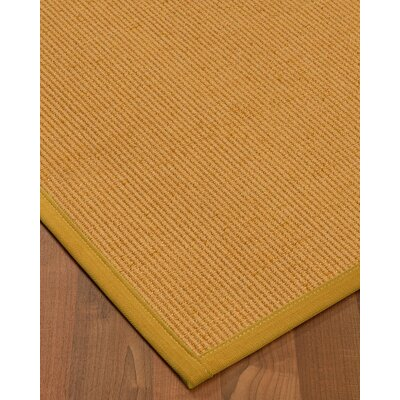 Vannatter Border Hand-Woven Beige/Green Area Rug Rug Size: Rectangle 6 x 9, Rug Pad Included: Yes