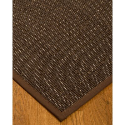 Kersh Border Hand-Woven Brown Area Rug Rug Size: Rectangle 5 x 8, Rug Pad Included: Yes