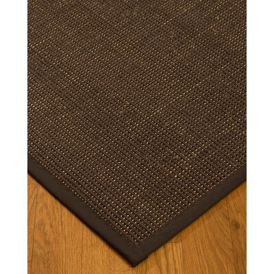 Kersh Border Hand-Woven Brown Area Rug Rug Size: Rectangle 4 x 6, Rug Pad Included: Yes
