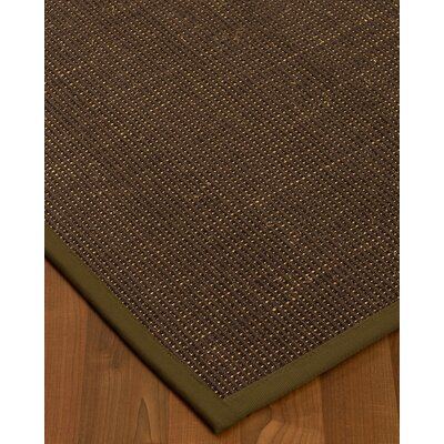Kersh Border Hand-Woven Brown/Malt Area Rug Rug Size: Rectangle 12 x 15, Rug Pad Included: Yes