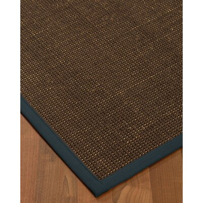 Kersh Border Hand-Woven Brown/Marine Area Rug Rug Size: Rectangle 4 x 6, Rug Pad Included: Yes